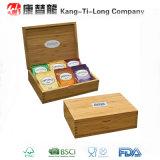 Boîte de stockage en bambou promotionnelle de café