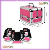 Caja de herramienta cosmética de la belleza de aluminio del color de rosa del tamaño medio (SACMC141)