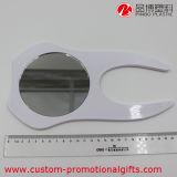 手持ち型の白い歯の形のかわいい小型小型の円形ミラー