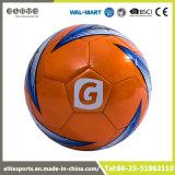 De oranje Gelaten leeglopen Voetbal van pvc Leer