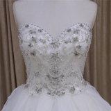 Без бретелек платье венчания мантии шарика Organza