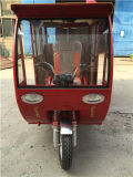 Closed poco costoso Motor Tricycle Bajaj Gasoline Three Wheel Trike Tricycle per Passenger