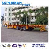aanhangwagen van de Vrachtwagen van de Lading van de TriAs van 16m Flatbed Semi voor Op zwaar werk berekend Gebruik