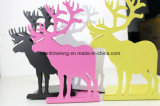 Fashion Metal Bookends Iron Elk Decorative Book Support Holder