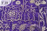 Tela hermosa púrpura del sofá del telar jacquar del Chenille por 320GSM
