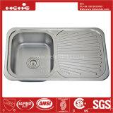 Spitzenmontierungs-einzelne Filterglocke-Küche-Wanne des Edelstahl-32-1/4 x 18-7/8 mit Abfluss-Vorstand