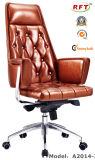 中国の木製のホテルの家具の革アームオフィスの主任の椅子(B2014-1)
