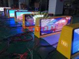 P5 versah farbenreiches 3G WiFi Steuerdoppeltes Taxi Spitzen-LED-Bildschirmanzeige mit GPS mit Seiten