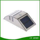 Lámpara de pared de puerta al aire libre 2LED Garden Light Iluminación solar de LED con PIR Sensor de movimiento para el camino