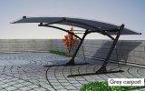 Stahlkonstruktion-Metallgebäude-Autoparkplatz