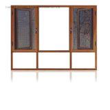 Finestra di alluminio rivestita della stoffa per tendine della polvere con doppio vetro (FT-W108)