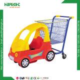 アジア様式のスーパーマーケットのショッピングトロリーカート手のトロリー