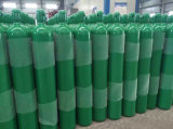 cilindro inconsútil de alta presión del acero del argón del nitrógeno del dióxido de carbono del oxígeno 35L