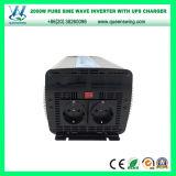 Inverseur pur automatique de sinus d'UPS 2000W avec l'affichage numérique (QW-P2000UPS)