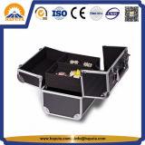 Porter la valise en aluminium de vanité de beauté avec 4 plateaux (HB-2025)