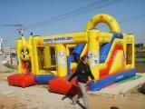 Gorila inflable barata comercial de la venta caliente, castillo animoso de salto con la diapositiva