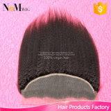 Закрытие Frontal шнурка вспомогательного оборудования человеческих волос типа дюймов плотности 13X4 130% бразильское
