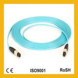 24cores competitivos Multi Modo MTP / MPO OM3 / OM4 fibra óptica Patch Cord