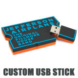 Soem-Silikagel USB-grelles Feder-Laufwerk private USB-Form