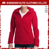 女性のためのサイズの羊毛のライニングのSoftshellのプラスのジャケット
