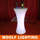 Alta mesa de centro iluminada moderna del taburete de barra del vector LED del RGB