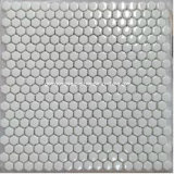 2016 Hexagonal negro Glass Mosaics con 6m m Thickness (SH56)