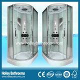 En forma de L habitación Deluxe ducha multifuncional con lámpara LED grande (SR119C)