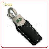 La catena chiave resa personale del cuoio genuino con incide il marchio