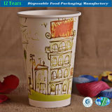 Taza de papel disponible impresa colorida para el café caliente