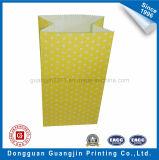 Sacchetto di carta giallo dell'alimento stampato Wavepoint di colore senza maniglia