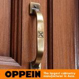 Oppein 2015標準的なL様式のブラウンの食器棚(OP15-006)