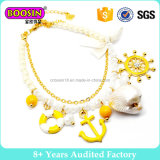 Pulsera plateada oro de imitación #B108 del encanto de la margarita de la perla de la manera