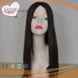 Parrucca superiore di seta di colore dei capelli neri del Virgin