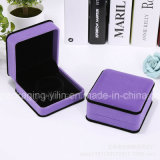 Caja determinada del terciopelo de la caja del anillo de la joyería pendiente de lujo promocional de la pulsera