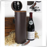 Barril de vino de cuero del almacenaje de la PU para el regalo