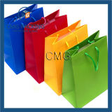 싼 다채로운 쇼핑 백 기술 종이 선물 부대