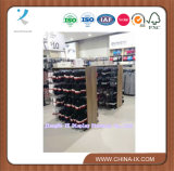 Cremagliera di visualizzazione della mensola del supermercato con legno e metallo