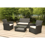 Modern Luxury Outdoor Meubles de jardin Patio Wicker / Rattan Sofa Set