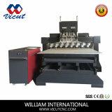 De multi-hoofd Vlakke en Roterende Machine van de Houtbewerking van de Machine van het Houtsnijwerk
