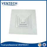 Difusor do quadrado da ventilação da fonte na cor branca de alumínio