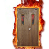 Incendio Door/Solid Wooden Fire Rated Doors con BS476 Standard