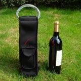 Un sac plus frais, porte-bouteilles faite sur commande à la mode de vin du néoprène (BC0031)