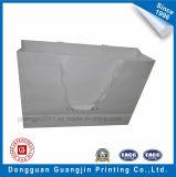Kundenspezifische handgemachte weiße Packpapier-Einkaufstasche mit der Prägung