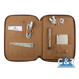 Padfolio Leather Laptop Travel Bag voor iPad met Pocket