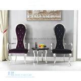 椅子(HW-YH94C)を食事するポストの現代様式のステンレス鋼