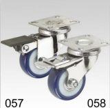 Blauer Belüftung-Schwenker mit Verriegelungsplatten-Oberseite-Fußrolle