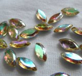 Jonquil ab Navettes Vintage Faceted 10X5mm Glass Gems