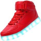 Mannen & Vrouwen USB die de Lichte Kleurrijke Gloeiende Opvlammende Tennisschoenen van de Vrije tijd laden