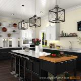 Oppein черный лак Классический шейкер Кухня Кабинет (OP15-L14)