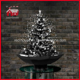 Klassieke Black and White Kerstboom Decoration met Snowflakes